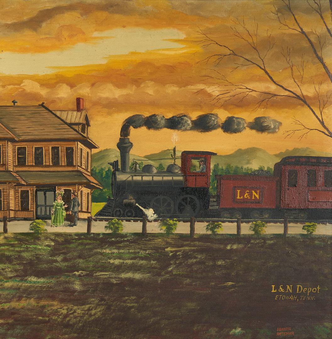 Lot 287: East TN L & N Train Depot O/C Painting