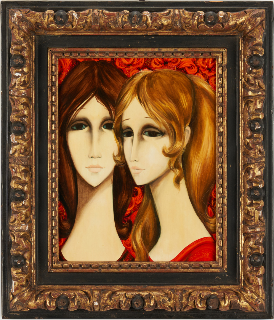 Lot 290: Pati Bannister O/B, Portrait of Two Women
