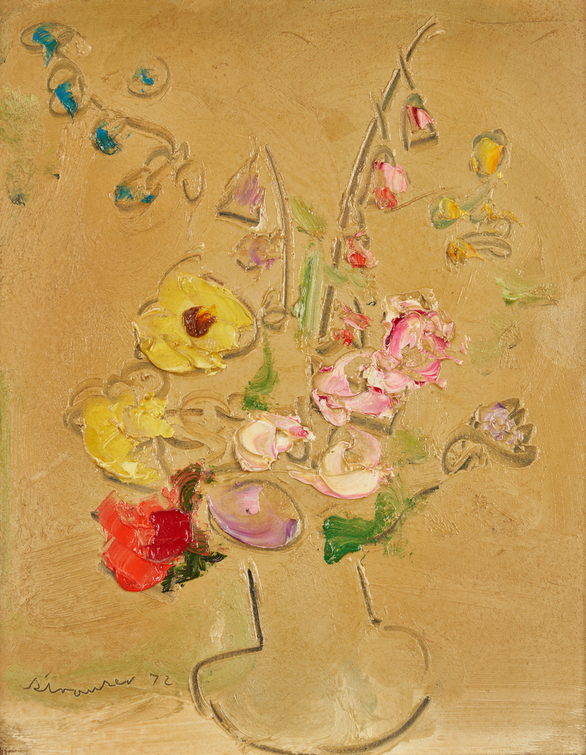 Lot 291: Sterling Strauser O/B, Floral Still Life