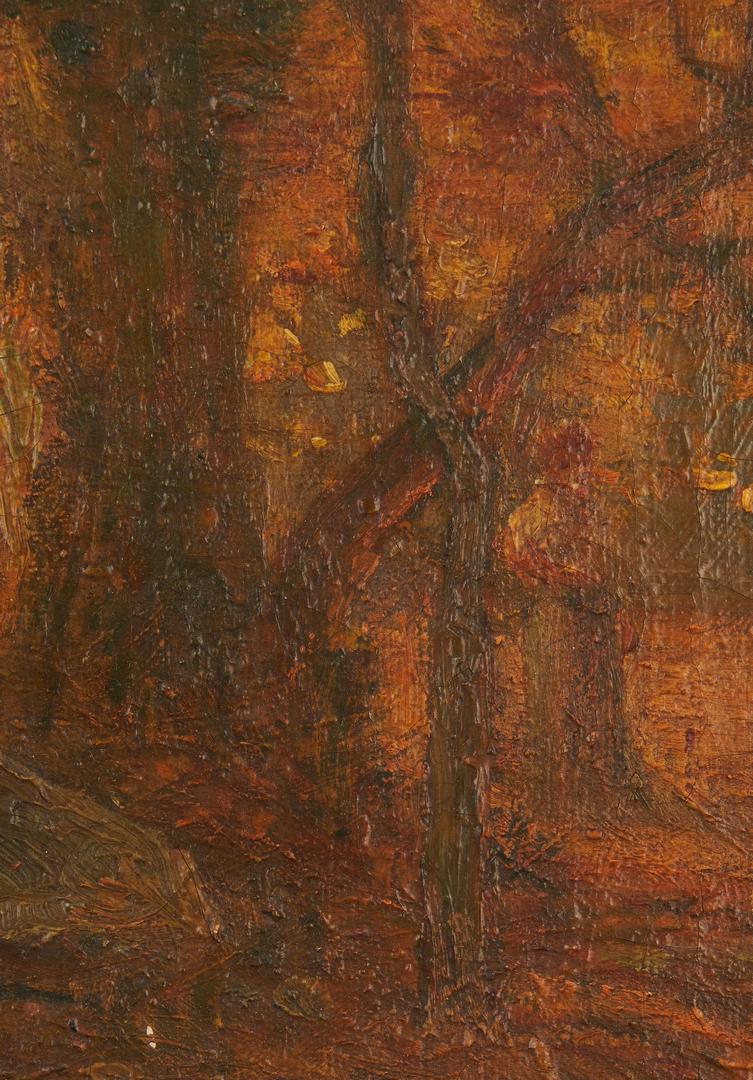 Lot 293: Benjamin Eggleston O/C, Autumn in the Woods