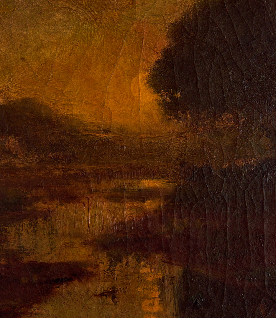 Lot 297: William Keith O/C, River Landscape at Sunset