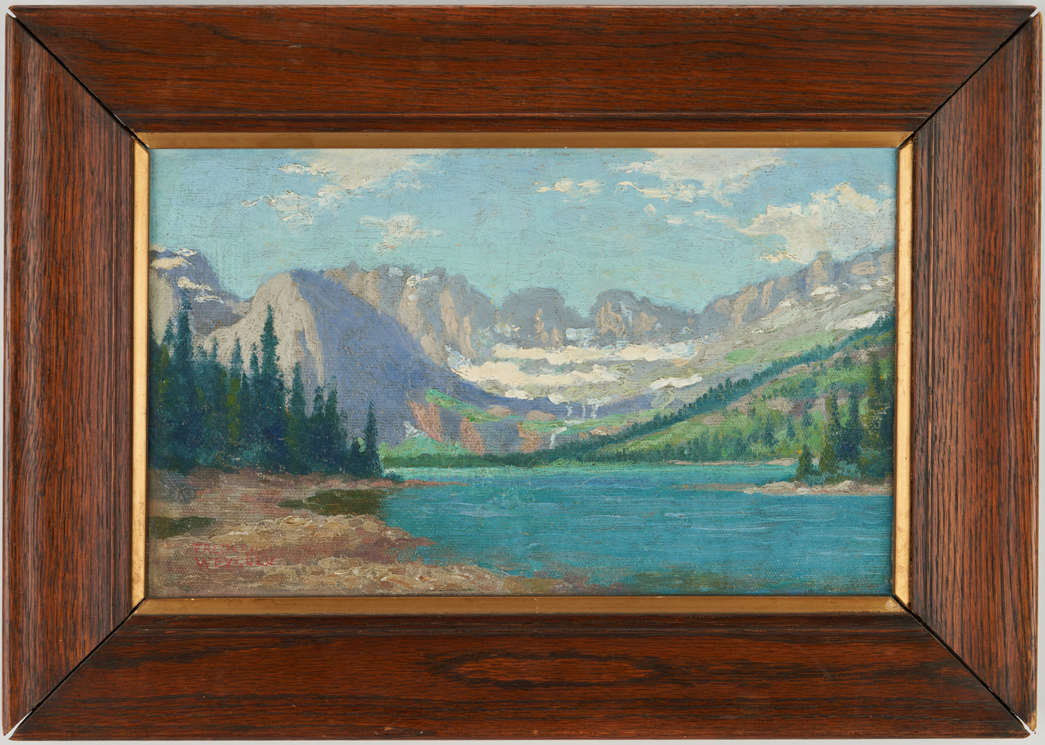 Lot 298: 2 Small Landscape Paintings, incl. Frederick Weygold
