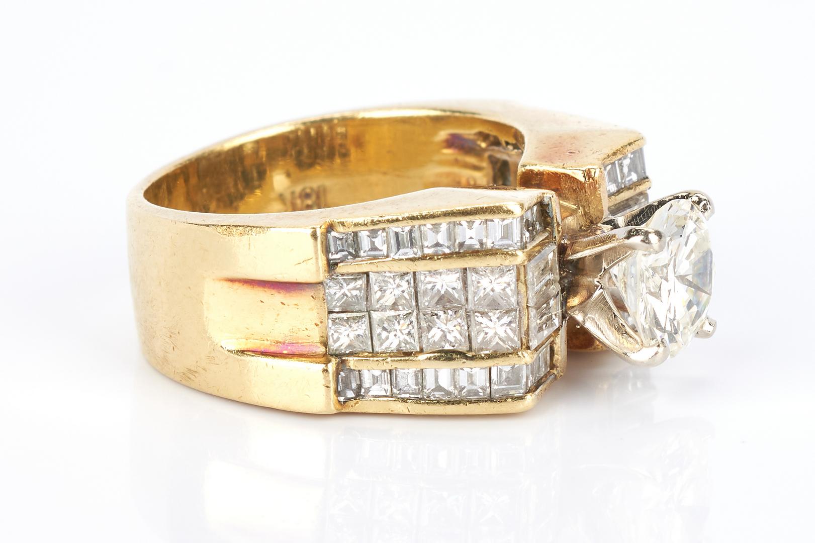 Lot 29: Ladies 18K 3.08 Carat Diamond Ring