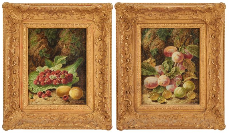 Lot 301: 2 Oliver Clare O/C Still Lifes with Fruit