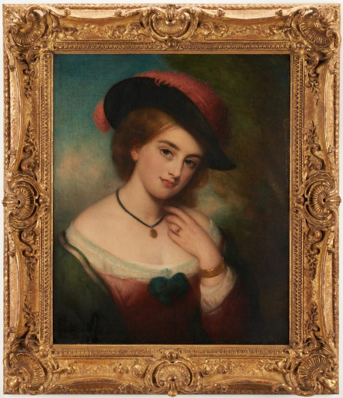 Lot 302: Portrait of a Lady, attrib. to Charles Baxter