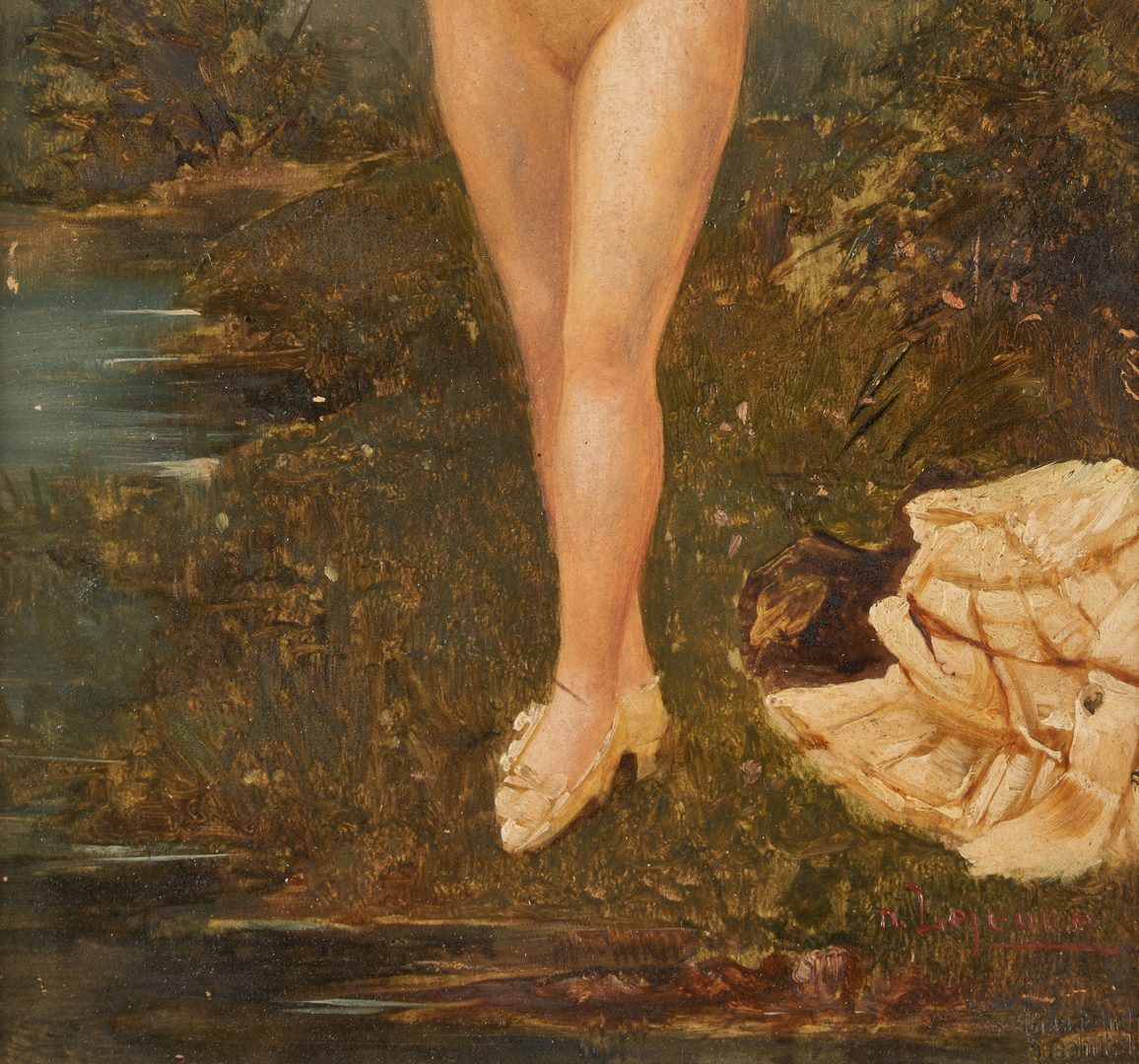 Lot 303: 2 Adolphe Frederic Lejeune O/P Nude Paintings
