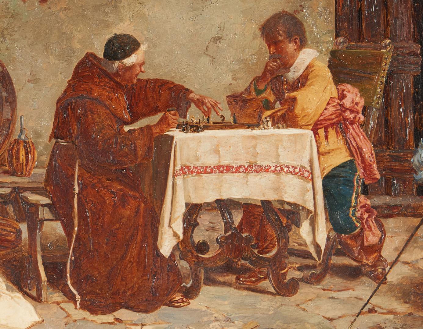 Lot 305: Attrib. Alessandro Sani, O/B, The Chess Game