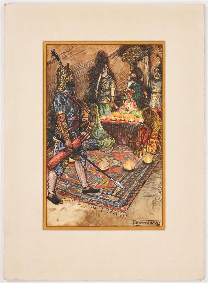 Lot 306: John Shaw Mixed Media Illustration, The Boy King