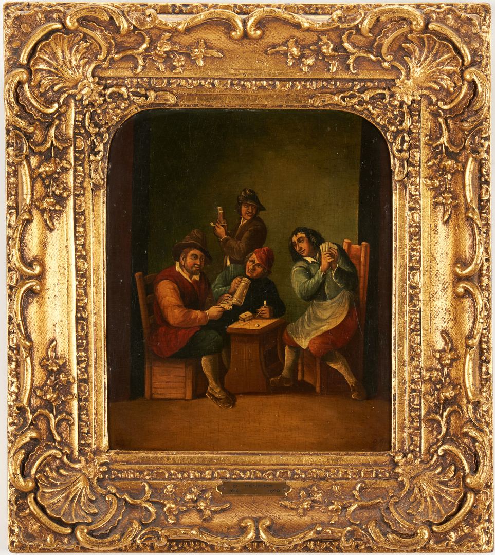 Lot 308: Pr. O/B Tavern Scenes, Manner of David Teniers II