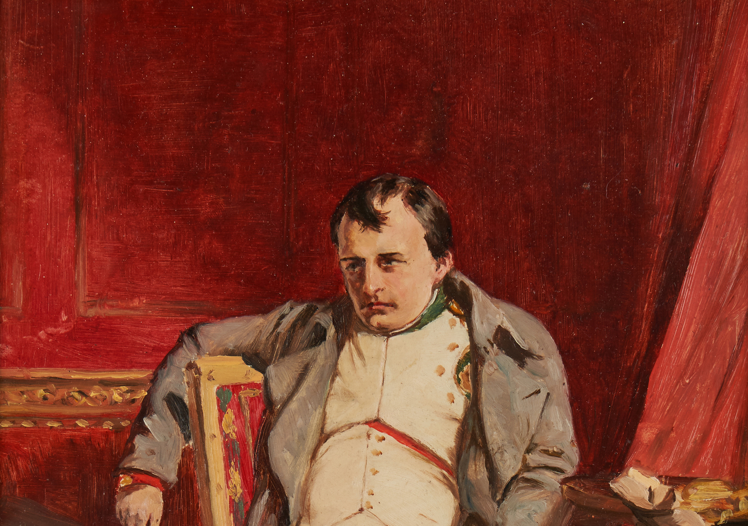 Lot 310: Painting and Print of Napoleon, after Delaroche
