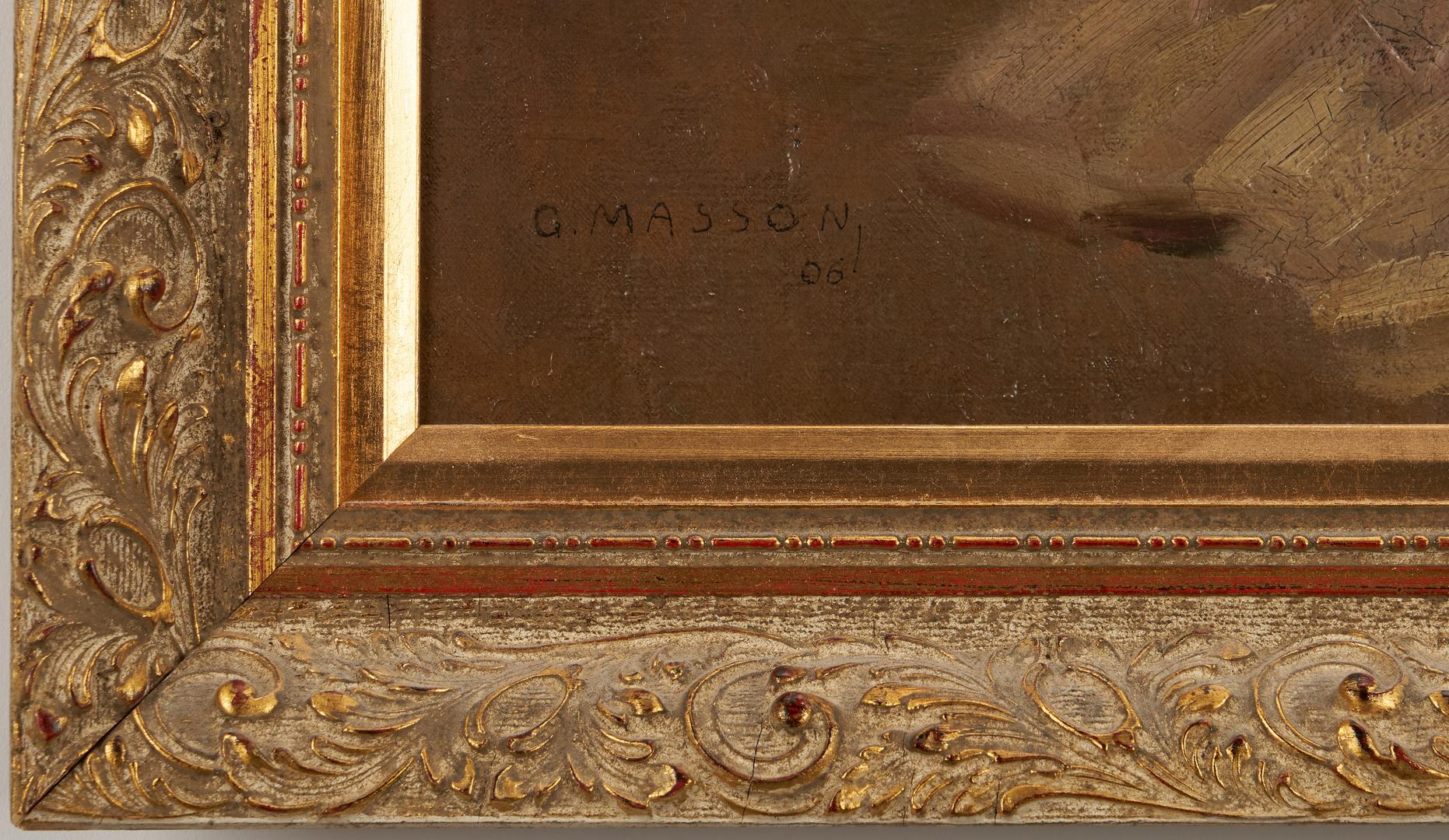 Lot 311: Georges Masson O/C Interior Scene