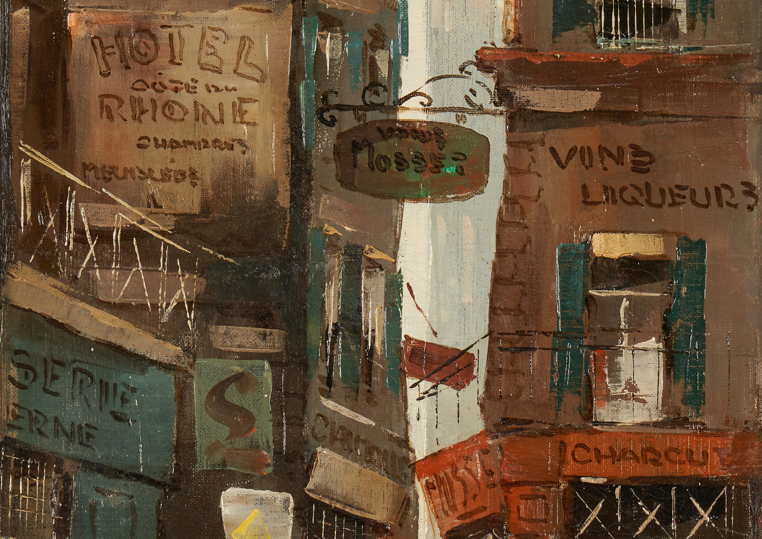 Lot 313: 2 French Street Scenes: Nicola Ortis Poucette and Max Moreau