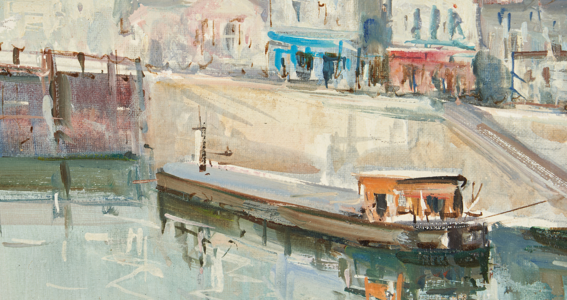 Lot 314: Lucien Delarue Oil of Canal St. Martin