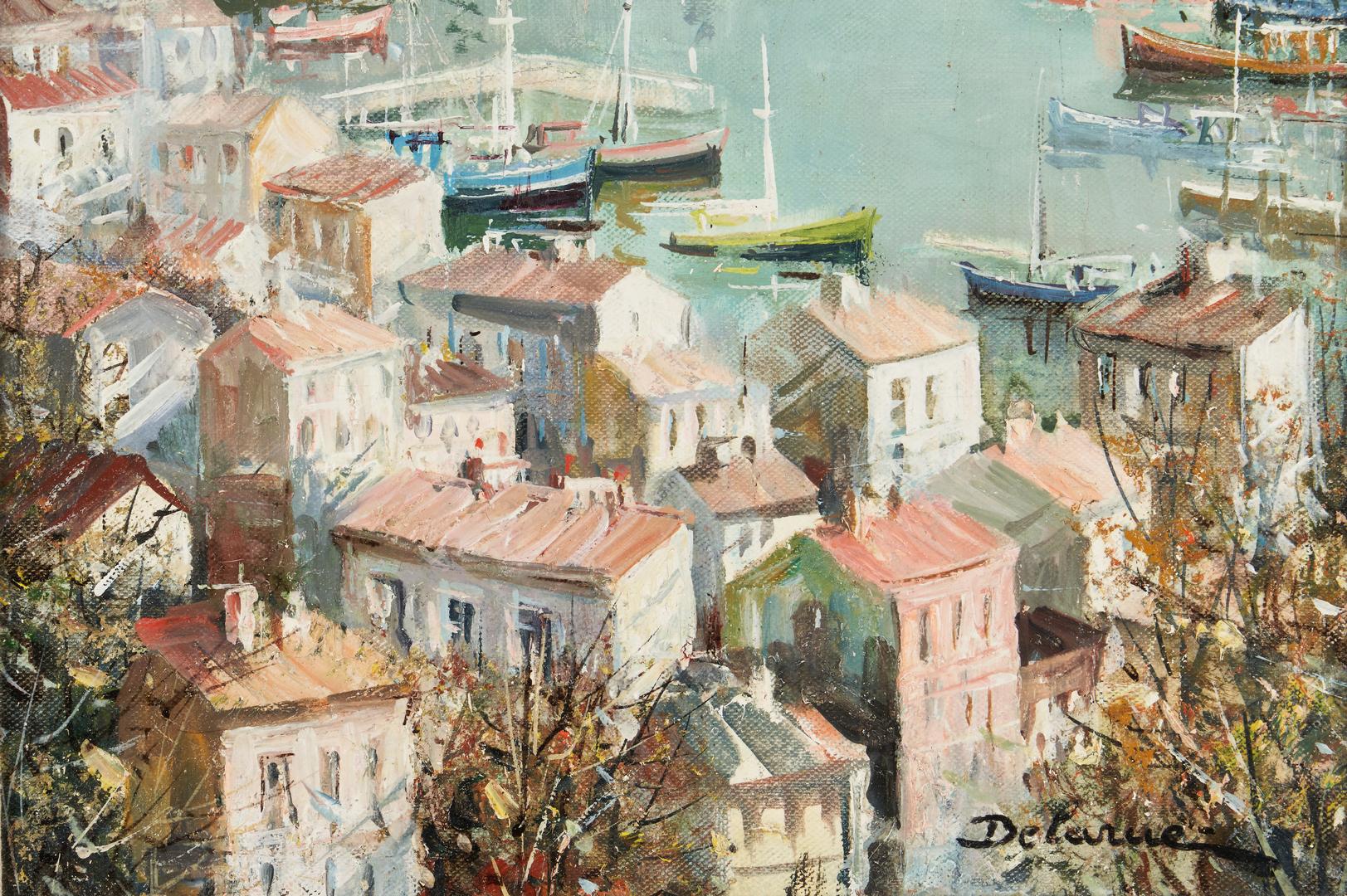 Lot 315: Lucien Delarue Oil of Harbor Scene