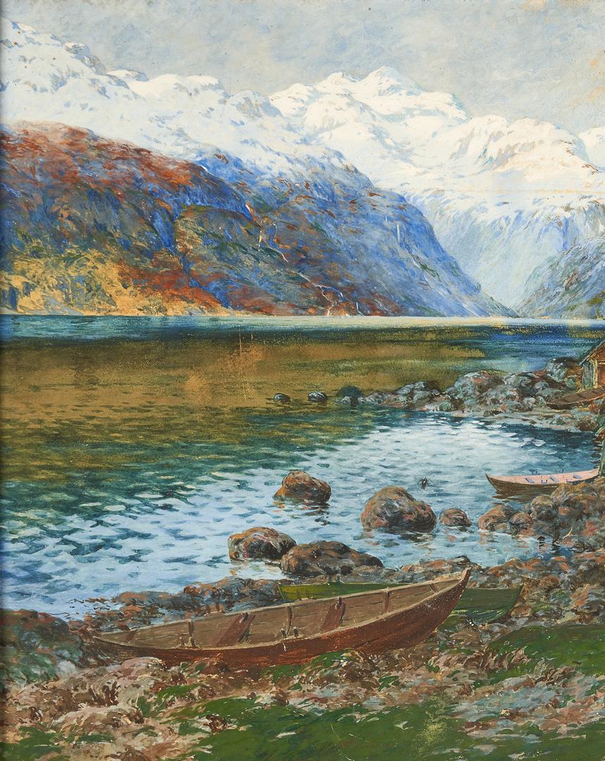 Lot 317: Benjamin Blessum, Norwegian Landscape
