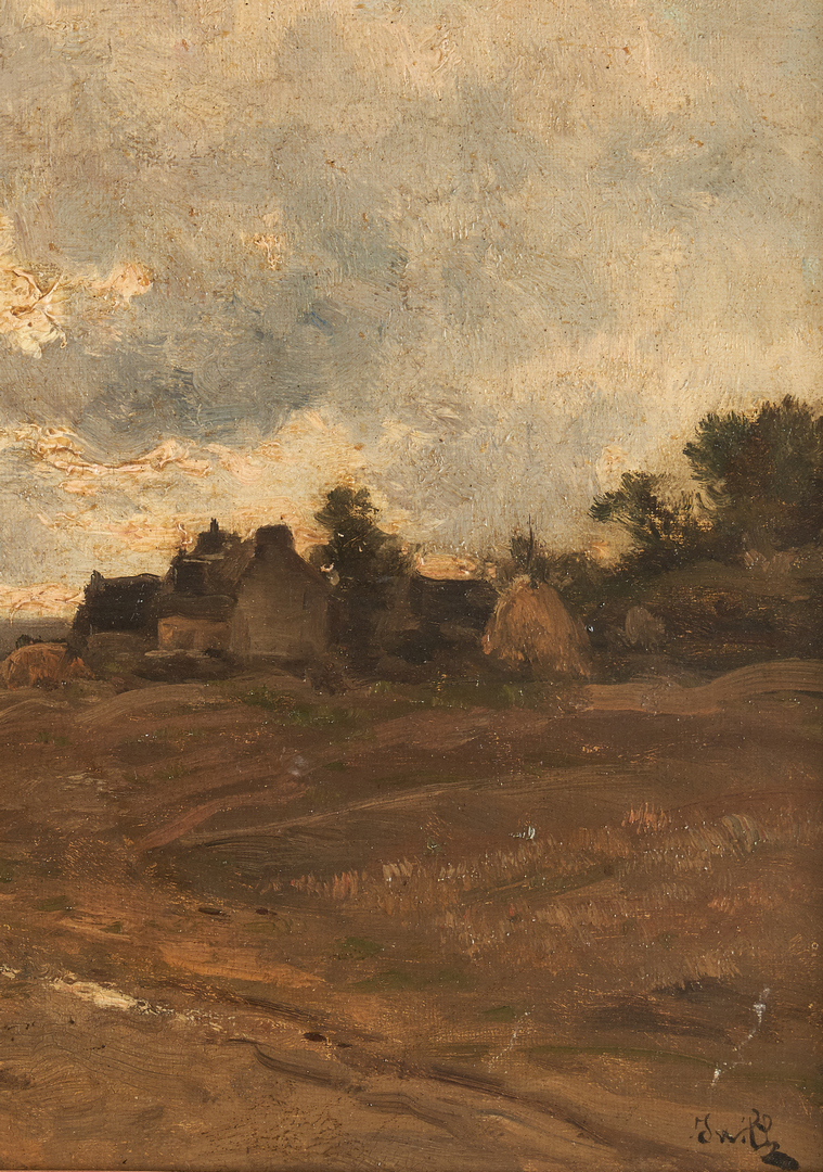Lot 322: Signed French School O/C Impressionist Landscape Painting