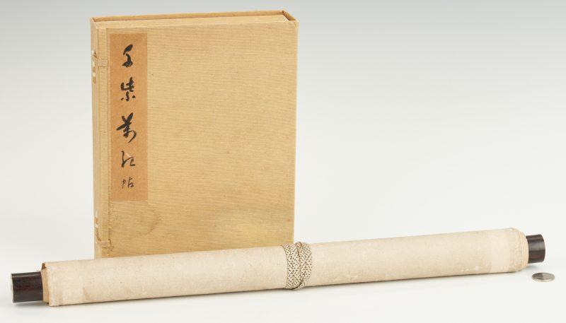 Lot 327: Japanese Watercolor Book plus Scroll