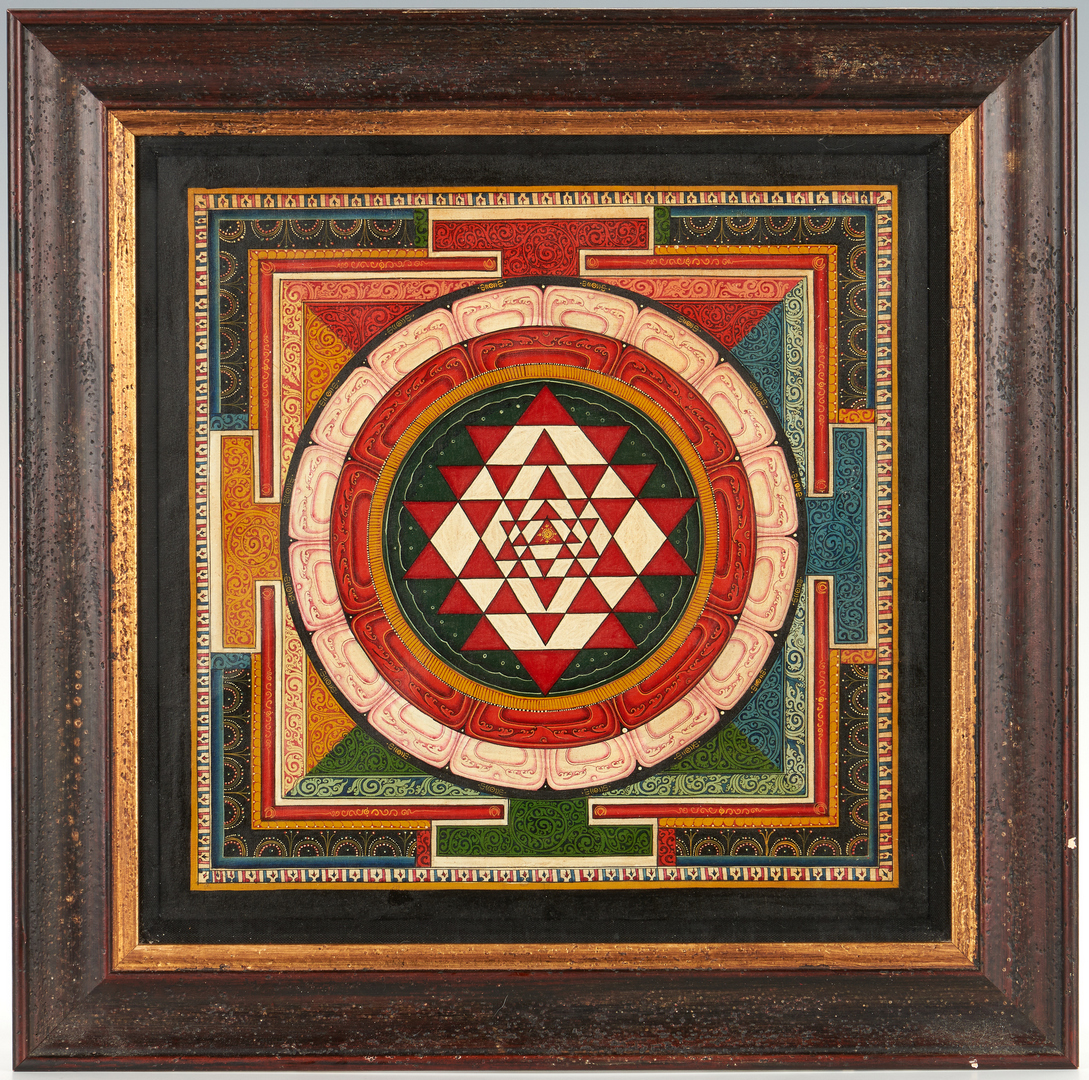 Lot 328: Southeast Asian Mandala and framed Mughal style illustration