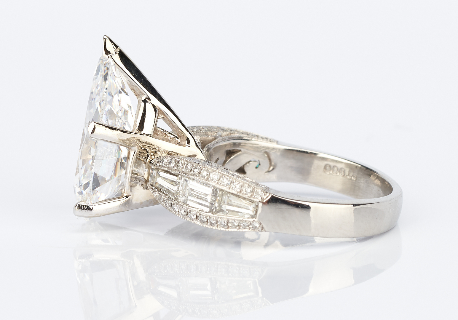 Lot 32: Ladies Platinum & 6 Carat Diamond Engagement Ring