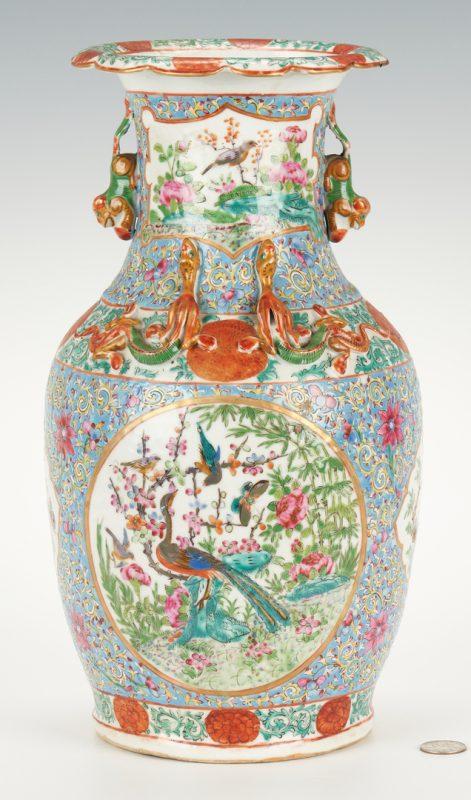 Lot 330: Chinese Famille Rose Vase, light blue ground