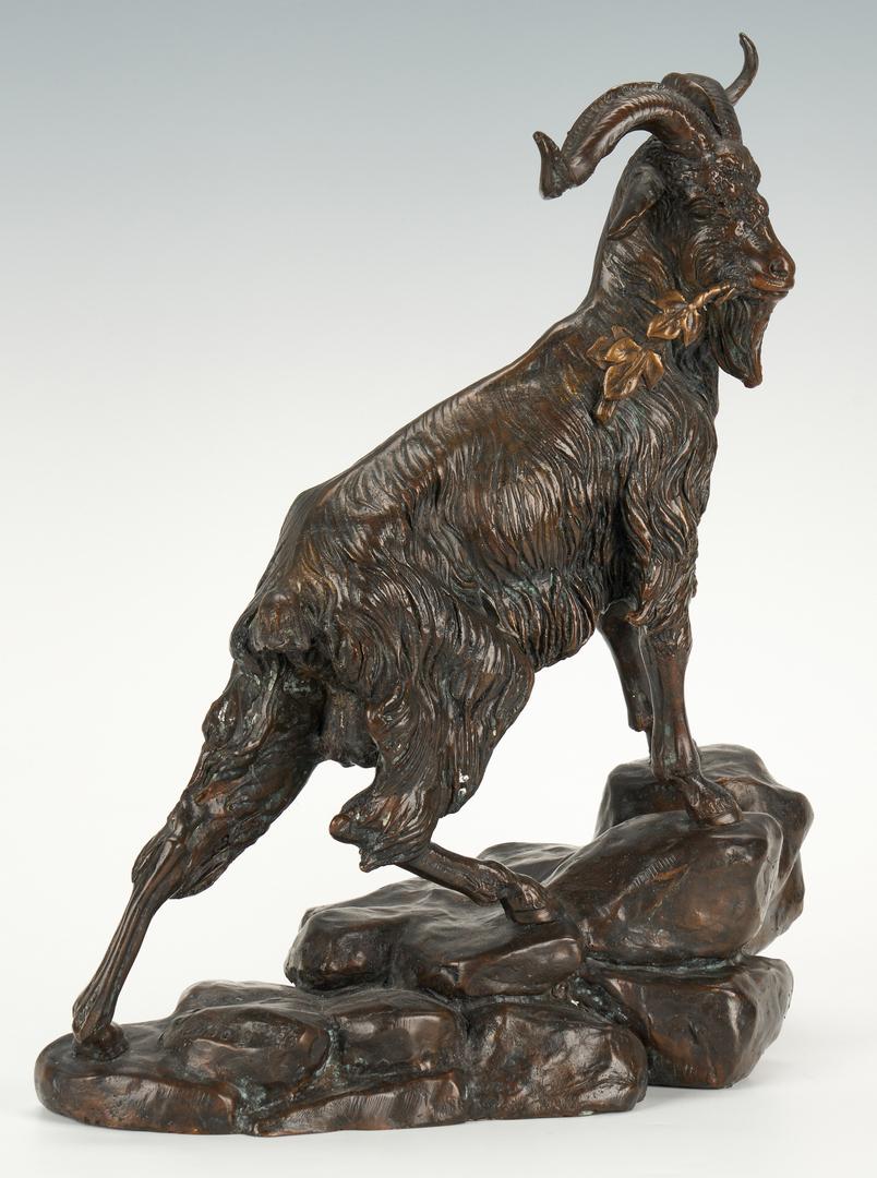 Lot 335: After Jules Moigniez Bronze Sculpture of Goat
