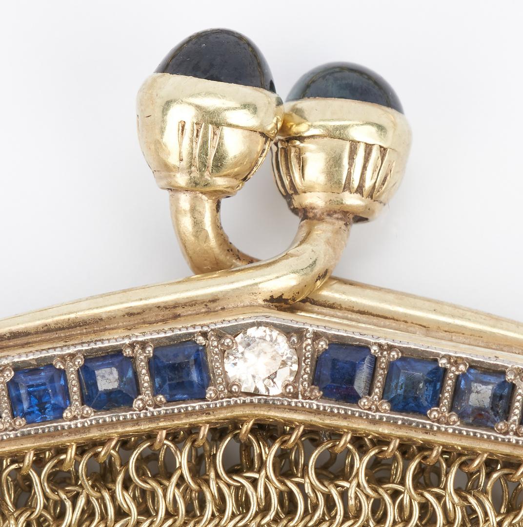 Lot 33: Tiffany & Co. 14K Gold Purse and Coin Purse, Lena Jones Springs
