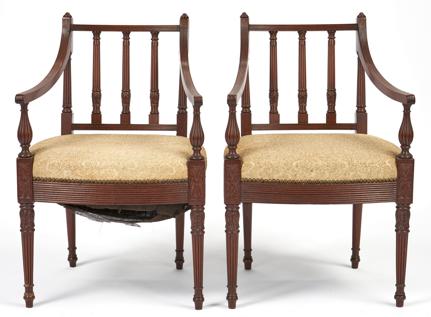 Lot 341: Queen Anne Side Chair & 2 Sheraton Chairs, 3 total