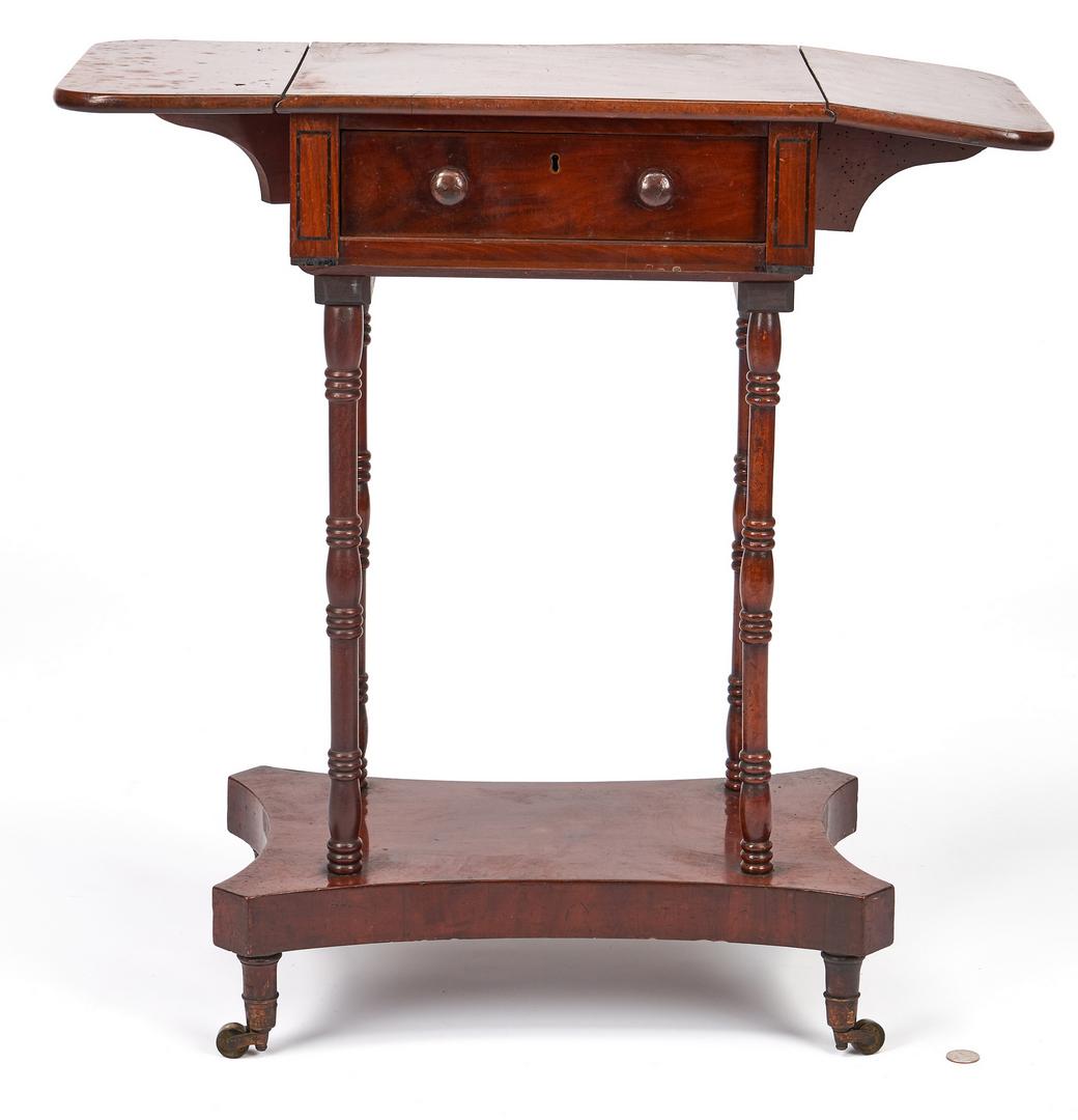 Lot 342: Regency Dropleaf Sewing Table