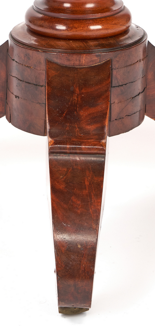 Lot 345: American Classical Center Table