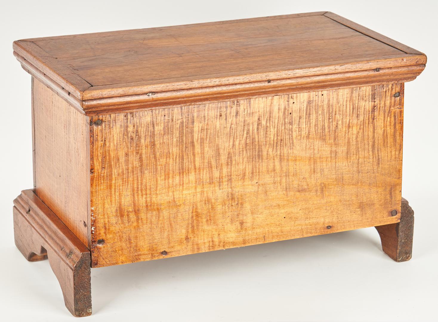 Lot 348: Miniature American Blanket Chest Box & Document Box