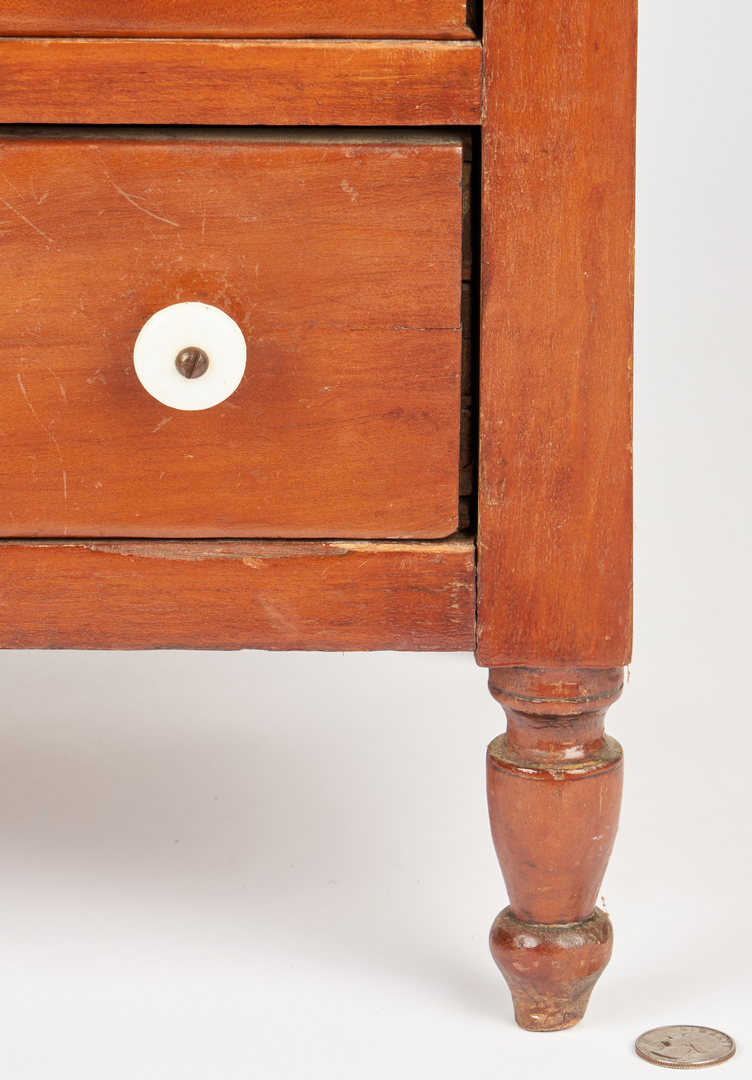 Lot 349: Miniature 4-Drawer Ohio Cherry Chest