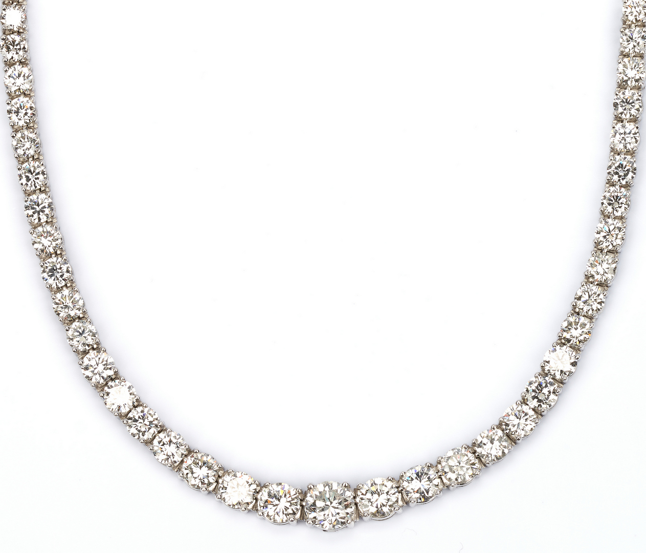 Lot 34: Diamond Eternity Necklace, approx. 22 Carats