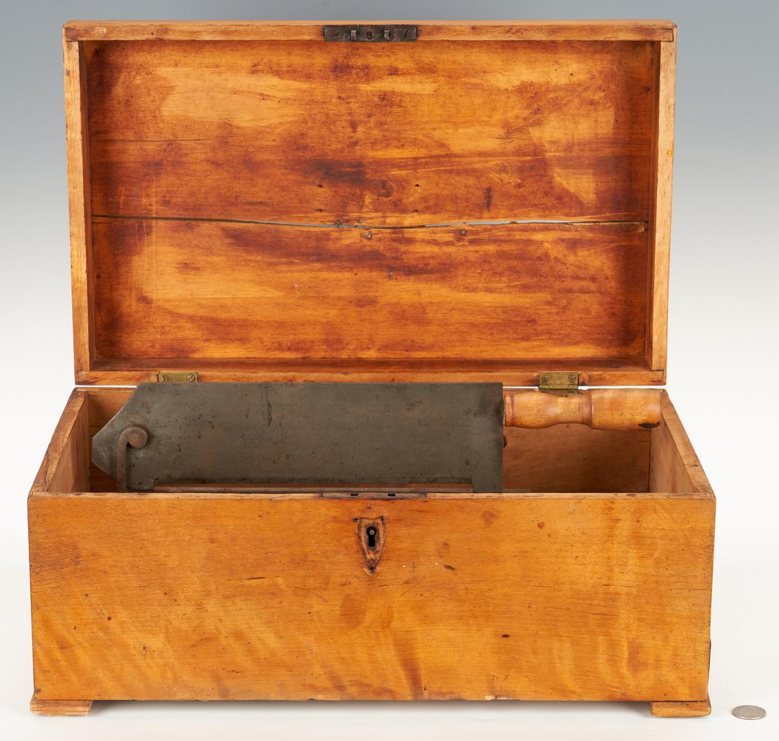 Lot 351: Maple Sugar Box & Small Hinged Box