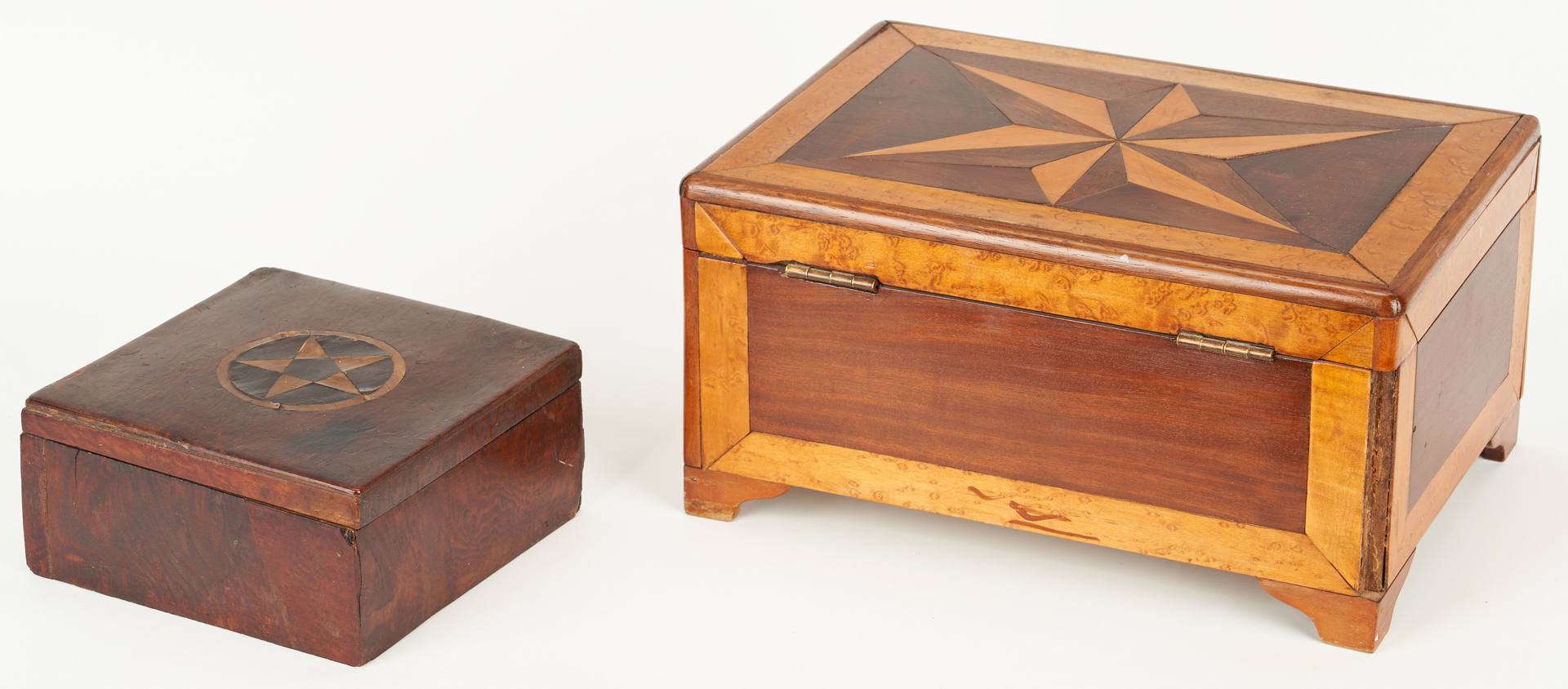 Lot 352: 3 Boxes with Inlaid Tops, incl. Lap Desk