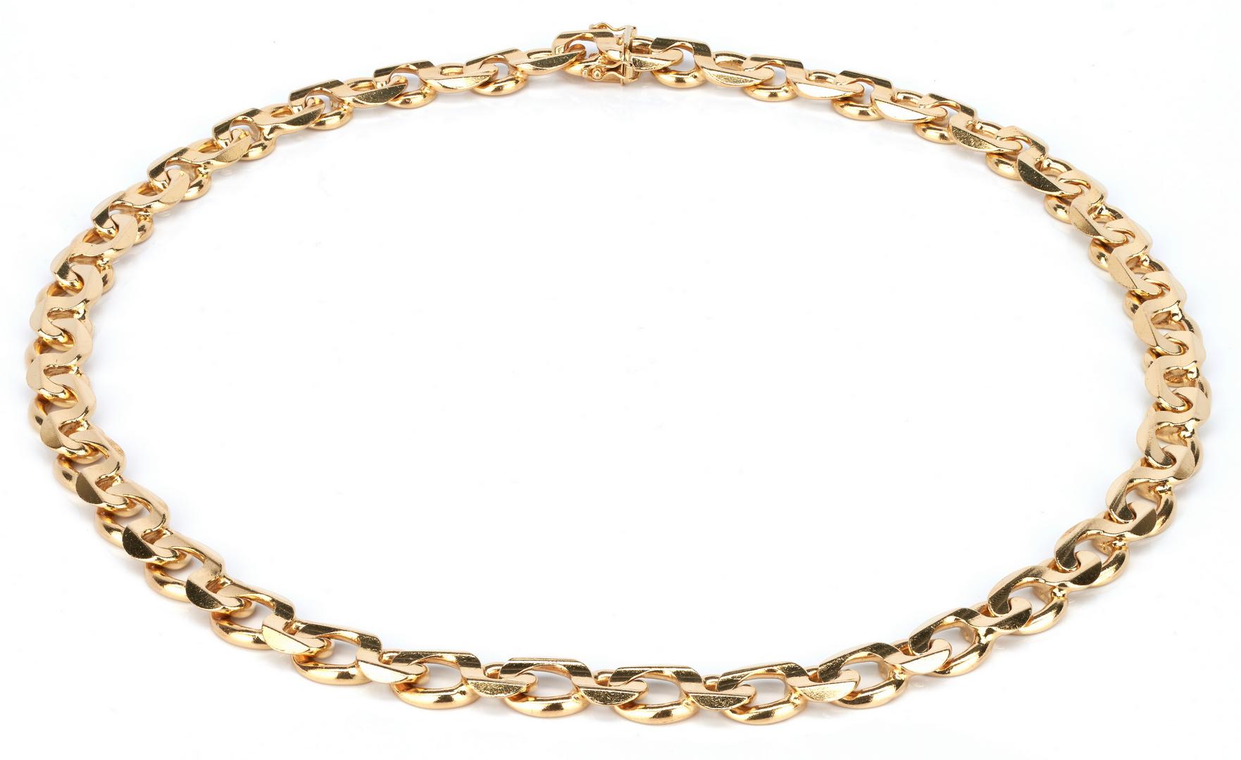 Lot 35: 14K Italian Link Necklace