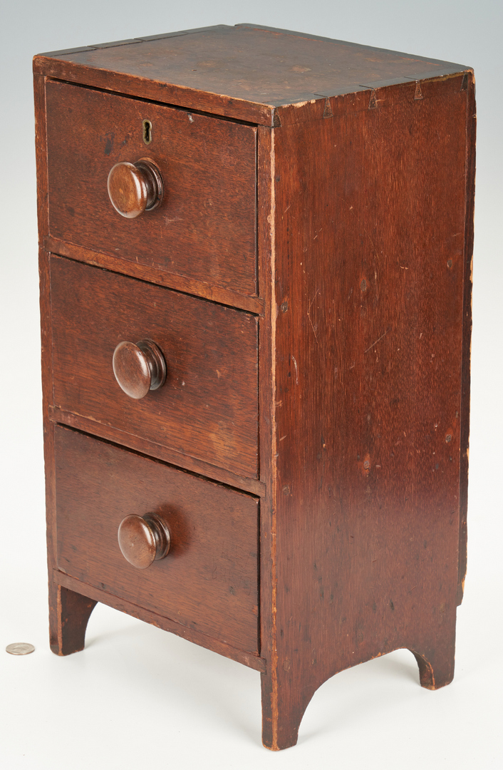 Lot 360: 2 Miniature Chests of Drawers, incl. Kentucky