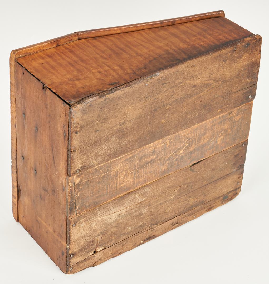 Lot 362: KY Tiger Maple Document Box & Tiger Maple Slant Top Box
