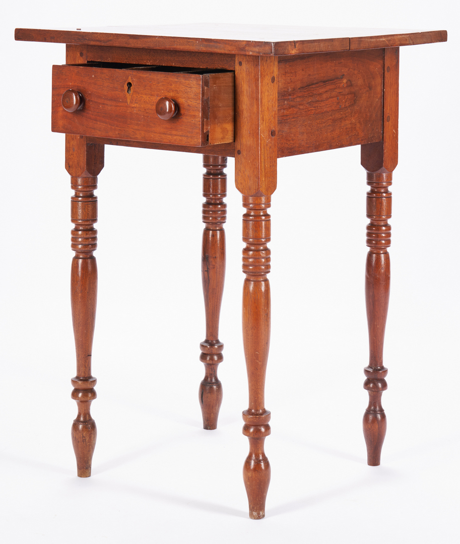 Lot 365: 2 Tennessee One-Drawer Stands, Turned Legs