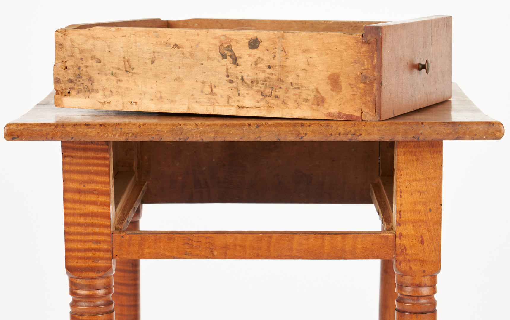 Lot 370: 2 Tiger Maple Tables, incl. East Tennessee