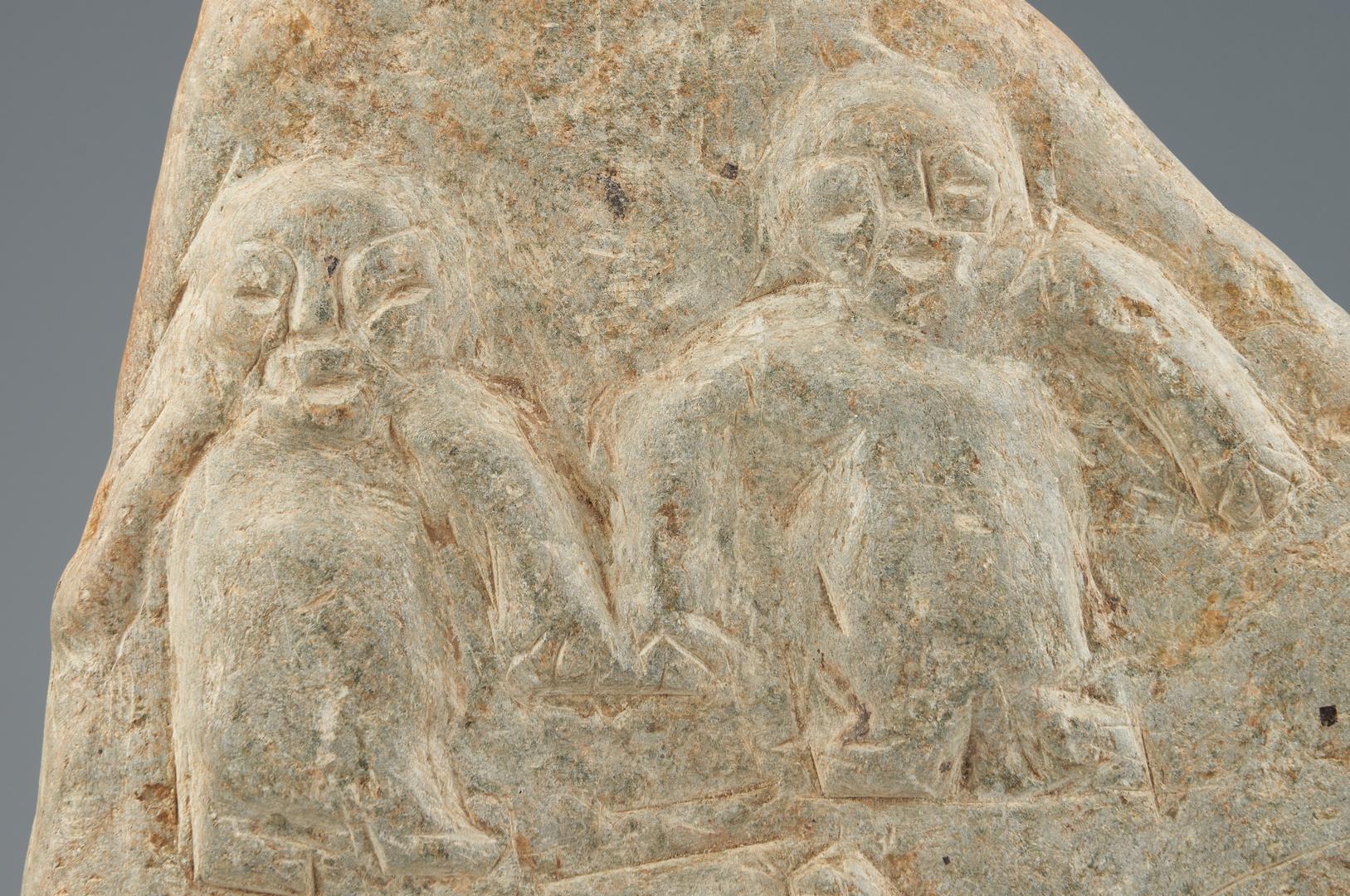 Lot 373: Large Raymond Coins Folk Art Carved Stele