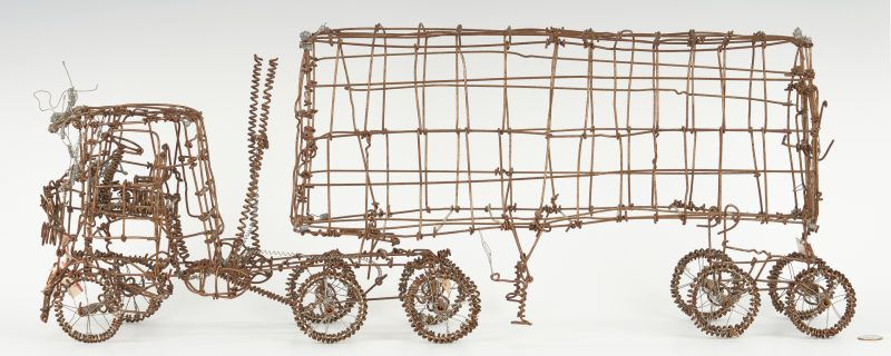 Lot 375: Vannoy Streeter Semi-Truck Wire Sculpture
