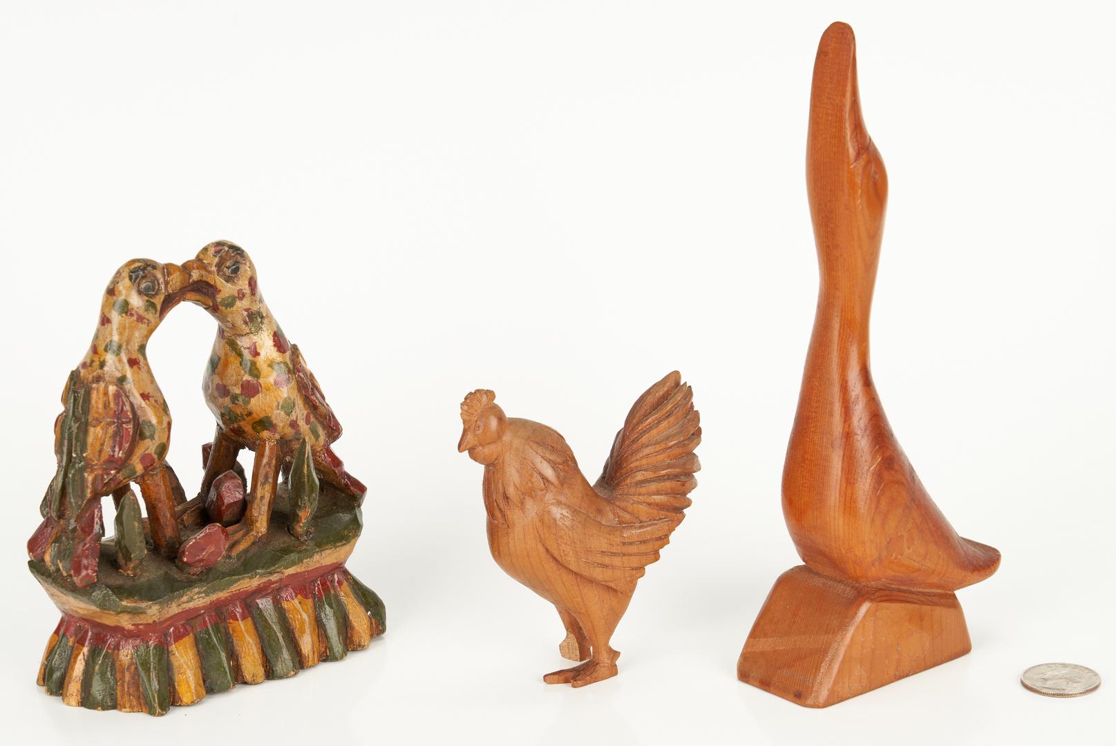 Lot 377: 6 Folk Art Items, incl. David Ludwig Bird Figural