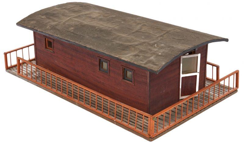 Lot 379: Folk Art Model of a Shanty Boat
