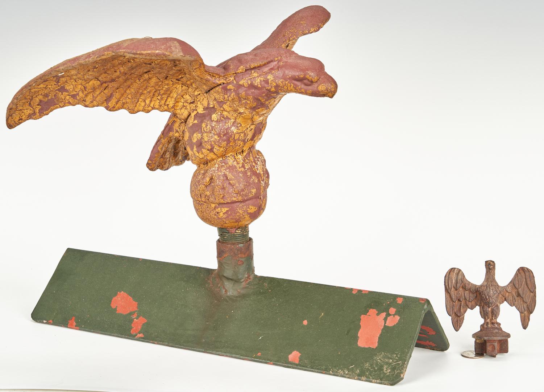 Lot 381: 2 Ornamental Eagle Items