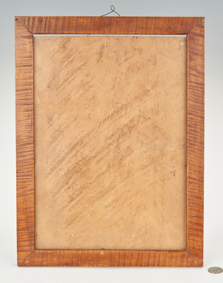Lot 388: Group 7 Framed Items, incl. Tiger Maple