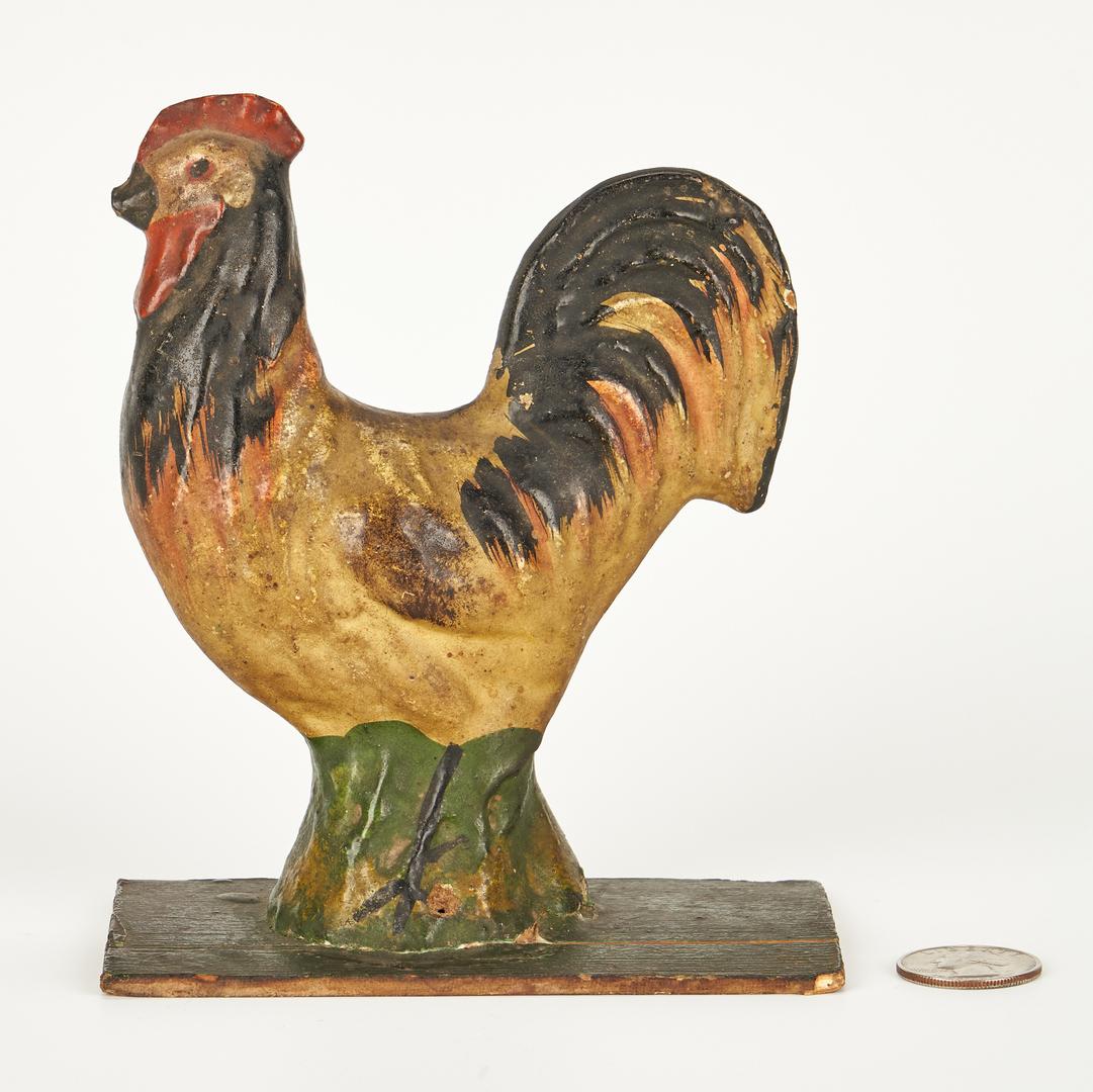 Lot 394: Cherokee Rivercane Basket & Paper Mache Chicken