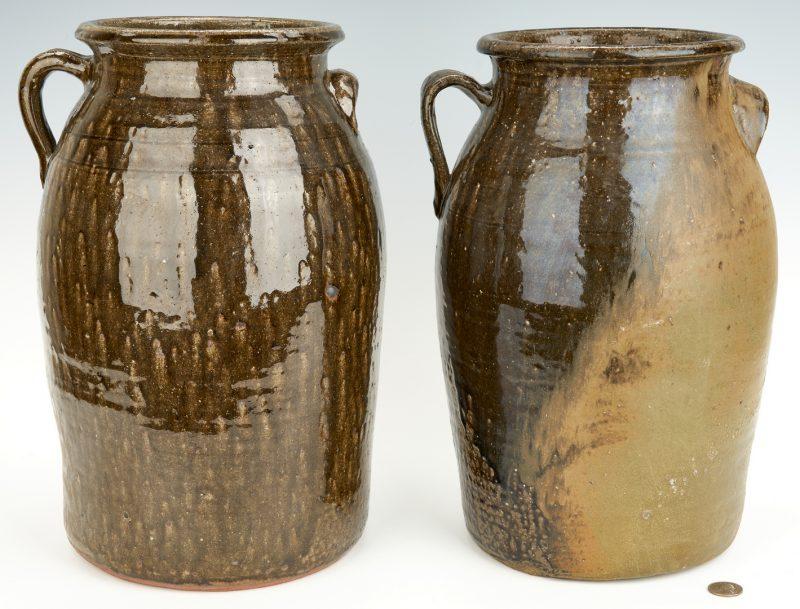 Lot 396: 2 Georgia Pottery Jugs, incl. Lanier Meaders