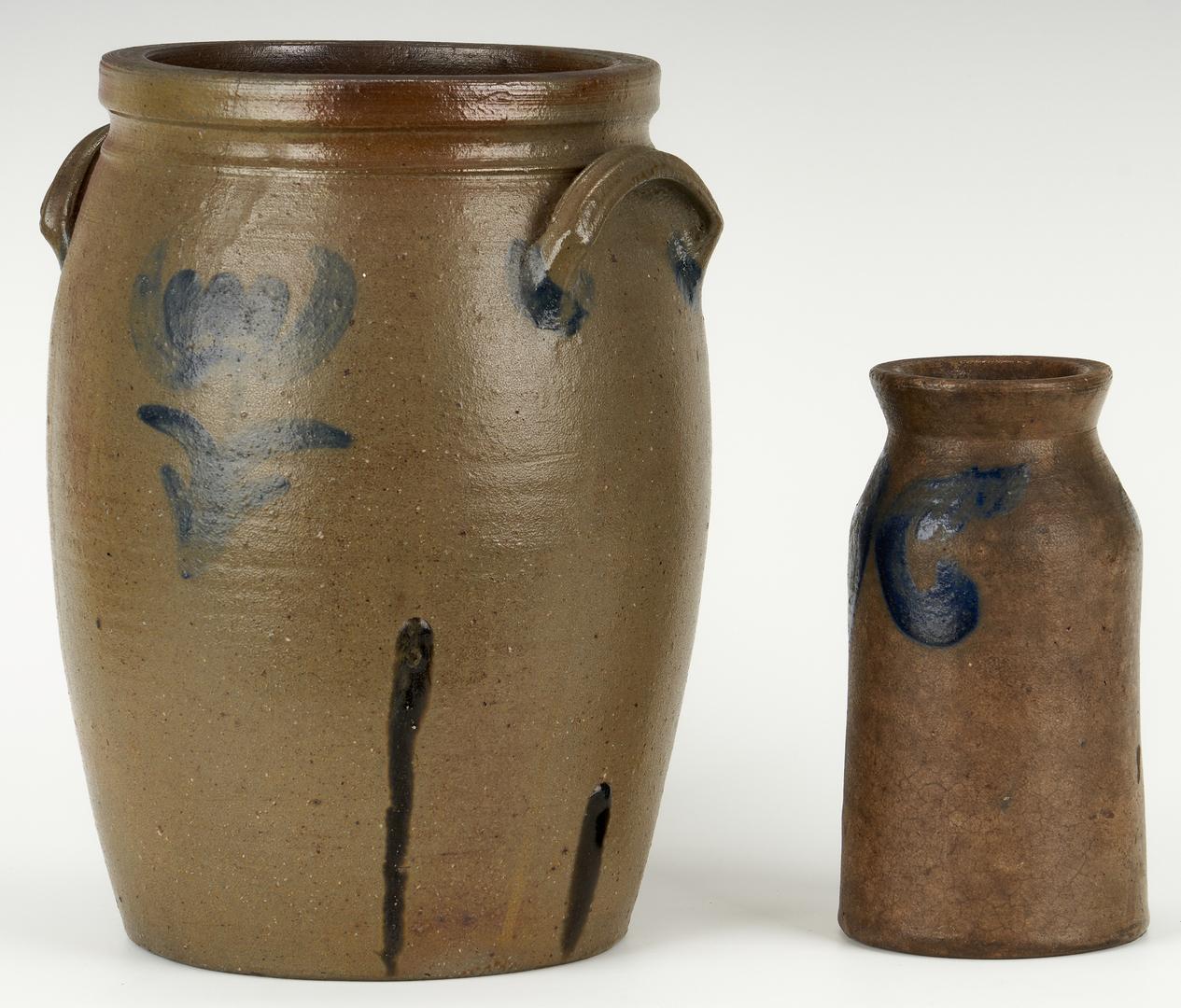 Lot 400: Charles Decker Stoneware Crock & S. Bell Jar