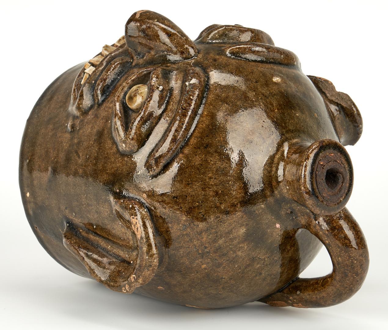 Lot 404: NC Southern Pottery Face Jug, H. F. Reinhardt