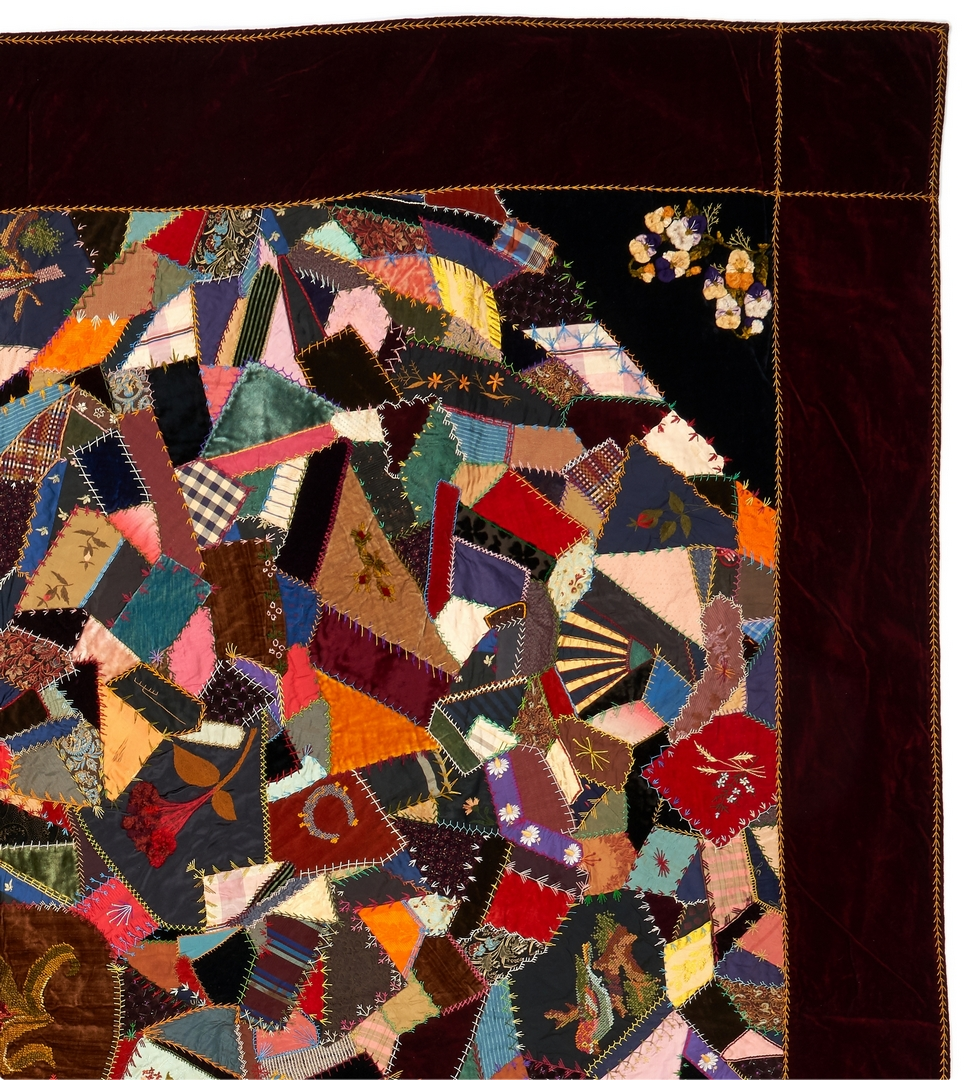 Lot 412: Southern Crazy Quilt, Virginia History